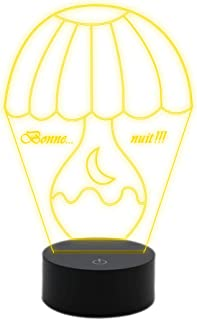 Lampada led 7 colori ABAJUR Luce da notte MULTICOLORE paralume idea regalo personalizzabile