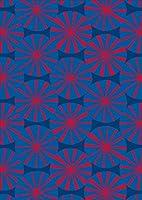 igsticker ポスター ウォールステッカー シール式ステッカー 飾り 1030×1456㎜ B0 写真 フォト 壁 インテリア おしゃれ 剥がせる wall sticker poster 011843 和風 和柄 青