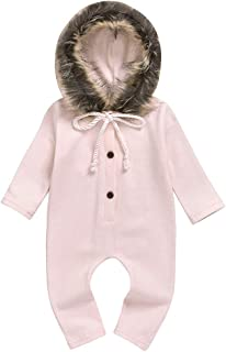 Giles Abbot Newborn Toddler Infant Baby Girl Boys Hooded Romper Jumpsuit Playsuit