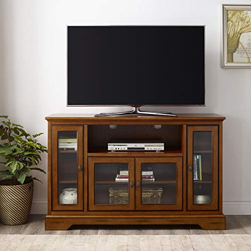 Walker Edison Traditional Wood Universal Stand for TV's up to 58