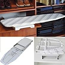 Closet Pull-Out Ironing Board - 180 Degree Swivel Foldable Hidden Ironing Board with Heat Resistant Cover for Space Saving House Held Built-in Cabinet Stow Away Ironing Board (Closet Pull-Out)