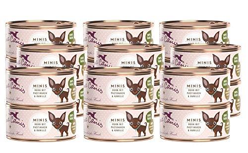 Terra Canis Mini-Hunde Nassfutter I Reichhaltiges Premium Hundefutter in echter Lebensmittelqualität mit Huhn, Pastinake & Kamille I 18 x 100g, allergenarm, getreidefrei & glutenfrei