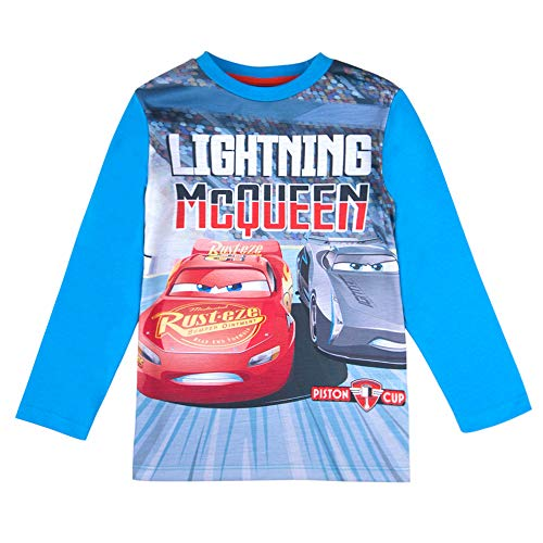Cars Disney jongens T-shirt, lange mouwen, blauw