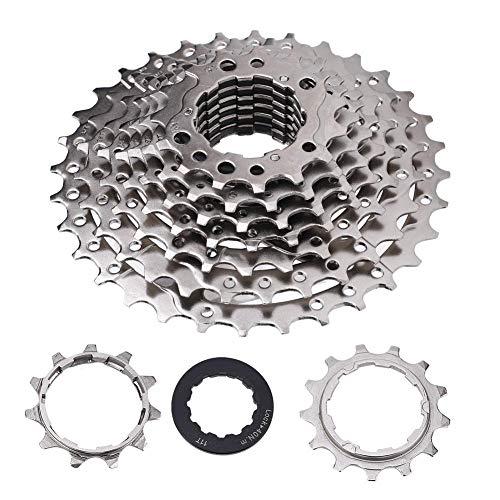 Fahrrad Kassetten, 9-12 Fach 32/36/42/46T Mountainbike Freilauf Kassetten Kettenrad für Rennrad Mountainbike(9 Fach 11-32T)