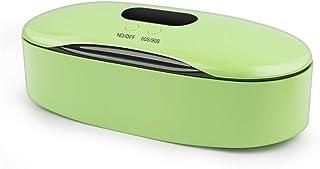 UV Esterilizador Desinfectante Caja Ultravioleta LED Germicida Lámpara Desinfección Dispositivo Teléfono, Máscara, Llaves, Tatuaje, Pinza, Uñas Esterilizante Equipo con temporizador 60/90S,Verde
