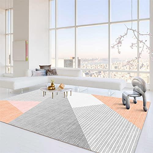 Alfombra Geométrica Moderna, Manta De Cabecera De La Alfombra del Dormitorio De La Sala De Estar del Hogar, Cojín De La Mesa De Centro del Cojín del Sofá Simple 60 x 90cm