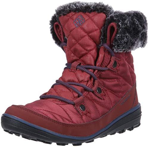 Columbia Women's Heavenly Shorty CAMO Omni-Heat Ankle Boot, Marsala red, zinc, 8 Regular US