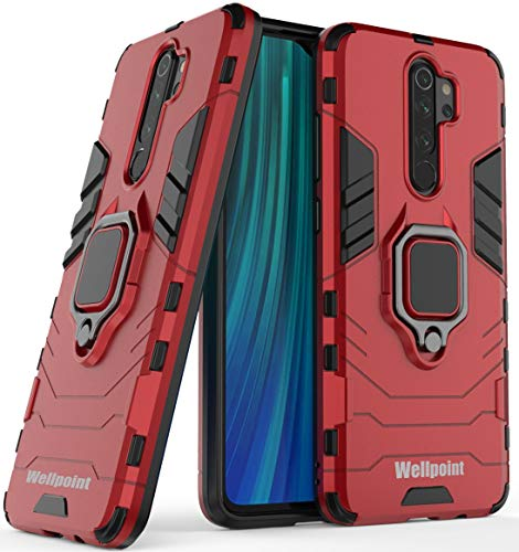 Wellpoint Armor Case Back Cover for Redmi Note 8 Pro (Robot-Red)