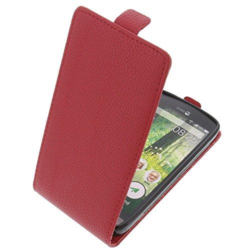 foto-kontor Tasche für Doro Liberto 825 Smartphone Flipstyle Schutz Hülle rot