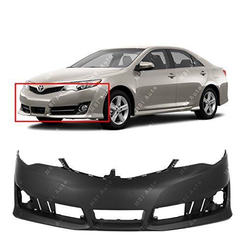MBI AUTO - Primered, Front Bumper Cover Fascia for 2012-2014 Toyota Camry 12-14, TO1000379