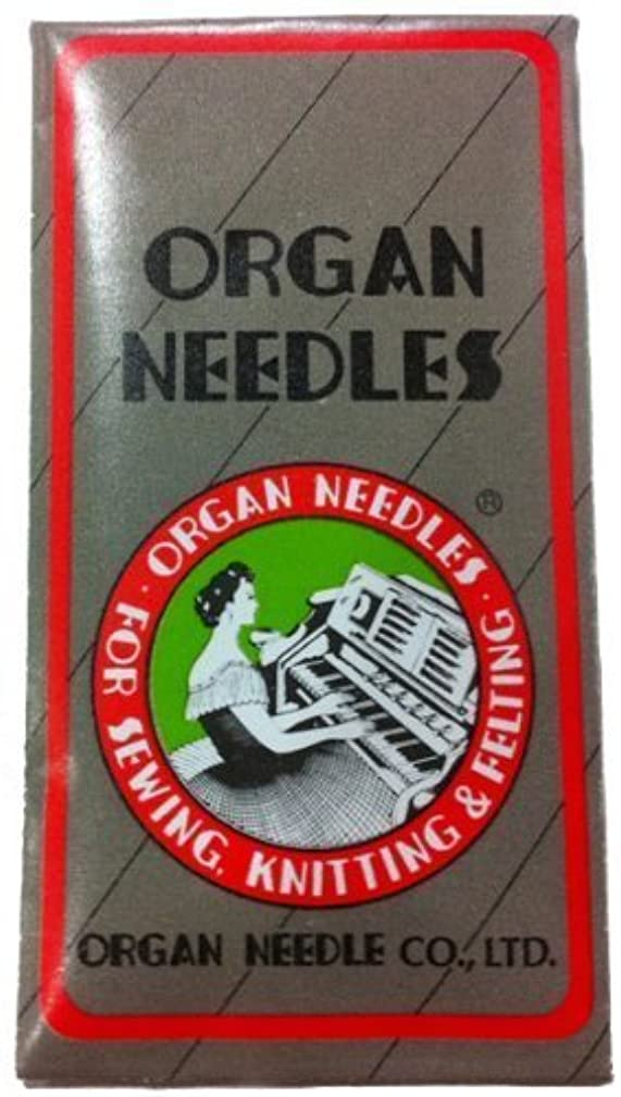 Ball Point Sewing Machine Needles Home-use By Organ Needles (10 Needles/pack), Select Size (Size 80 / 12 Ball Point)