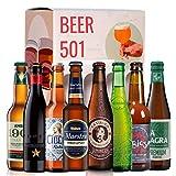Caja de cervezas degustación BEER 501 - Pack ESPAÑA: Ambar 1900, Inedit, Cibeles Rubia, Maestra, La Virgen, Alhambra 1925, Rabiosa y La Sagra Premium I Selección para regalar y disfrutar.