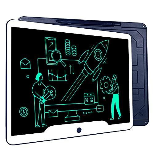 Richgv Tableta de Escritura LCD 15 Pulgadas, Tableta Grafica Talla Grande, Pizarra Digital, Pizarra magnética para niños y Adultos (Azul)