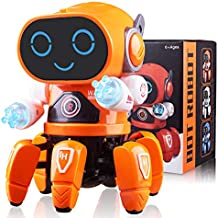 Marsjoy Musical Baby Toys Dancing Walking Robot for Boys & Girls Kids or Toddlers Aged 6+ with Music and LED Colorful Flashing Lights Dancing Singing Baby Shower