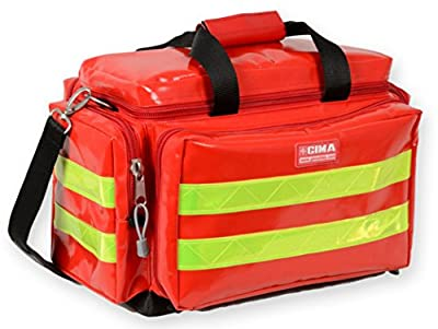 GIMA - Emergency Smart Bag, Red Colour, Polyester, PVC Coated, Empty, Trauma, Rescue, Medical, First Aid, Nurse, Paramedic Multi Pocket Bag, 45x28x28 cm 27155 from Gima S.p.A.