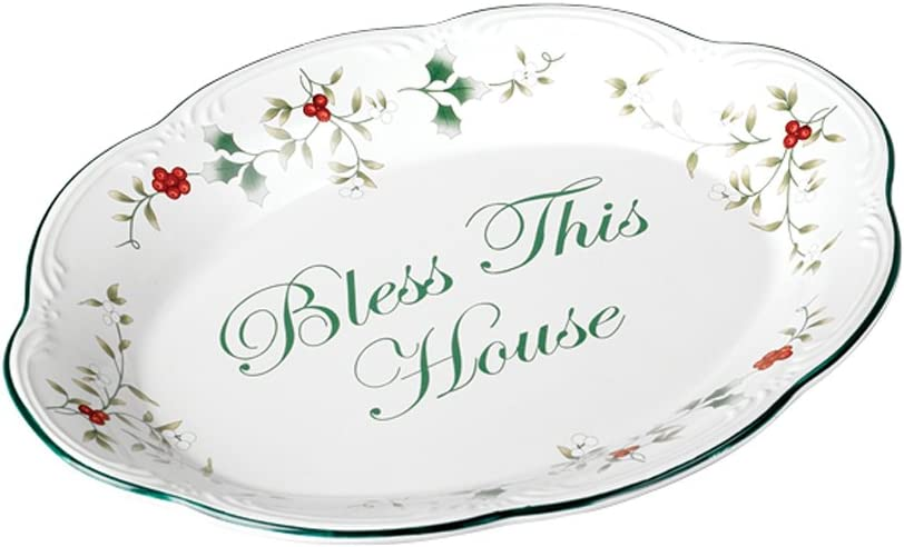 Pfaltzgraff Winterberry Popular standard Bless This - House Outstanding Plate