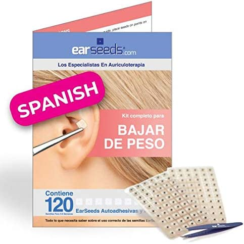 Ear Seeds Weight Loss Chart Spanish Edition Bajar De Peso Auriculoterapia product image