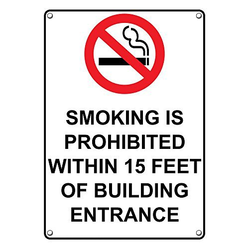 Weatherproof Ranking High material TOP1 Plastic Vertical Smoking Prohibited Sign is Within