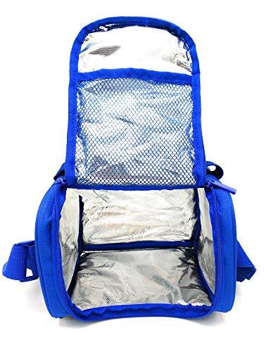51eI4p+HYuL - Leyendas Bolsa Térmica Porta Alimentos Comida Almuerzo Oferta Color Liso o con Dibujo 6 litros (Azul)