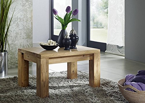 MASSIVMOEBEL24.DE Palisander Holz Möbel massiv geölt Couchtisch 70x50 Sheesham Massivmöbel Holz massiv braun Nature Brown #110