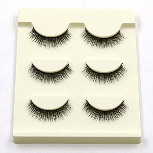 VanMe 3 paires de faux cils Natural court paragraphe 3D stéréo cils maquillage 30