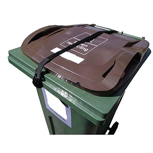 Mülltonnendeckel Gurt–Kein Werkzeug oder Bohren erforderlich– Hält den Deckel geschlossen & sichert den Inhalt