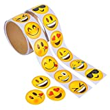 Kicko Emoji Stickers Roll for Kids - 2 Rolls - Assorted Emoticon Sheets - Party Favors, Game Prizes, Novelty Toys, Wall, Creative Scrapbooks, Girly Collections, Personalized Arts and Crafts