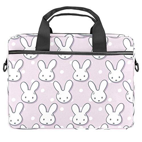 GLEND Maulkörbe mit niedlichem Kaninchen-Maulkorb und Punkten, Laptop-Tasche, Umhängetasche, für Damen und Herren bis 34,4-36,8 cm