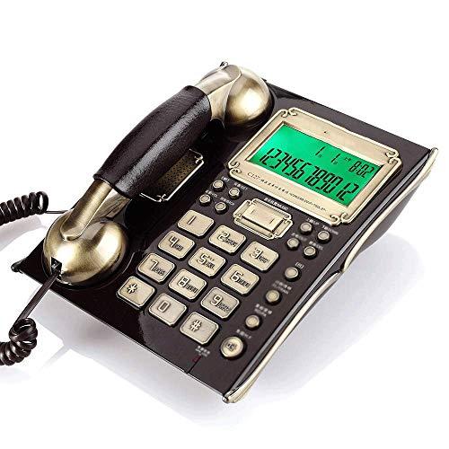 YUTRD Teléfono Fijo Informe De Llamada De Línea Fija De Casa Retro (Color : A)
