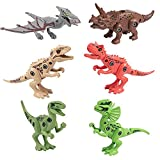 WSZMD Juguetes De Modelo De Dinosaurio Montado, 6 En 1 Juguetes De Dinosaurios Ensamblados De Bricolaje con Destornillador Dinosaur Modelo Juguete,Gift Box