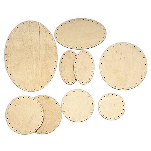 Zita's Creative Korbboden Set bogig, groß für Peddigrohr 2mm und 3mm - Flechten, Korbflechten, Schilf Set, Peddigrohr, Flechtmaterial, Flechtset, Rattan