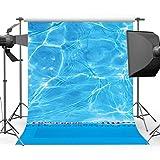 Mehofoto - Fondo para piscina (polialgodón, 1,5 x 1,8 m)