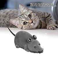 安全なワイヤレスマウス、マウスのおもちゃ、マウスの型、犬の猫のための灰色、リモコン付き茶色(オプション)(brown)