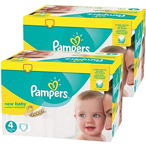 Couches Pampers - Taille 4 new baby premium protection - 480 couches bébé