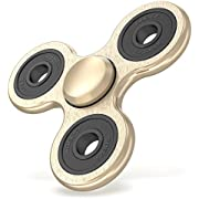Maxboost Tri-Spinner Fidget Spinner Focus Toy Stress Reducer for Kid and Adult [Prime Ball Bearing] Easy Flick, Spin single/both Hands Finger Figit Toys Perfect For Anxiety, Autism (MB000158)