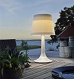 LED Solar Tischlampe Schreibtisch Lampe Weiß Nacht Licht Outdoor Dekorativ