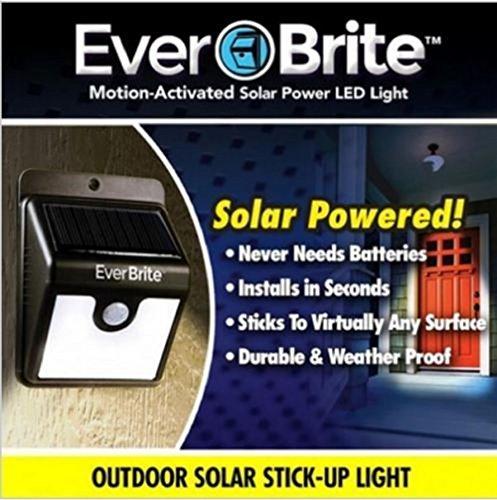 Ever Brite - Éclairage solaire d'extérieur à LED avec détecteur de mouvement