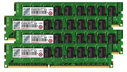 Transcend 16GB Arbeitsspeicher KIT für Apple MacPro (Late2013) (DDR3 1600 / 4x4GB)