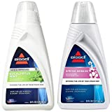BISSELL Eucalyptus Mint DEMINERALIZED STEAM MOP Water, 32 Ounces, 1392, White & Spring Breeze Demineralized Water 32 oz, 1394