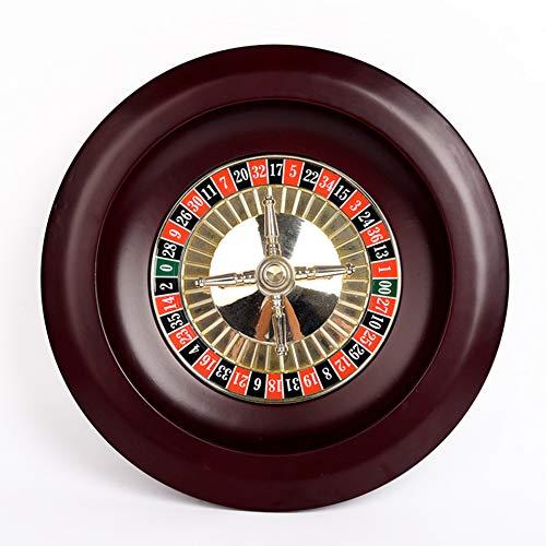 12/14 Zoll Casino Holz Roulette Radsatz, Erwachsenen Unterhaltung Freizeit Roulette Tischspiel Plattenspieler großes digitales Zifferblatt,30cm
