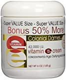 Colonial Dames Bonus Size Vitamin E Cream 42,000 I.U. - 50 Percent More Free = 6 oz