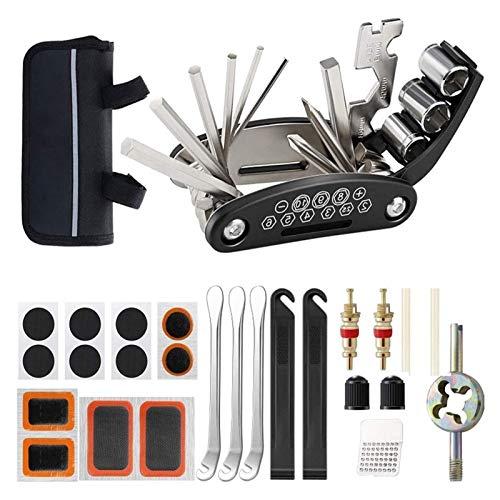 Fahrradreparaturwerkzeuge Kit Bike-Zubehör Multi-Werkzeugsatz mit Pump-Reifen-Patch Tragbar für Gebirgsstraßen Fahrrad Radfahren Zubehör Für Ersatz (Color : Tool Set 9)