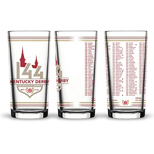 Kentucky Derby 144 Official 12oz. Mint Julep Glass, Perfect Souvenir/Gift for Derby Fans, 2 pack