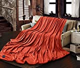 EP Mode Extra Large Throw Blanket for Family, Mega Size 10' x 8' (120 x 96 Inches), Seamless, Warm, Cozy and Static Free (Cherry Tomato)