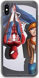iPhone X/XS, XR, XS Max, 7/8, 7 Plus/8 Plus, 6/6S, 6 Plus/6S Plus Coque Anti-Scratch Shockproof Case Spider Man et Mary Ja...