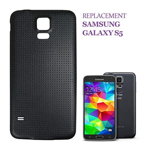swark Tapa trasera compatible con Samsung Galaxy S5 G900F, color negro