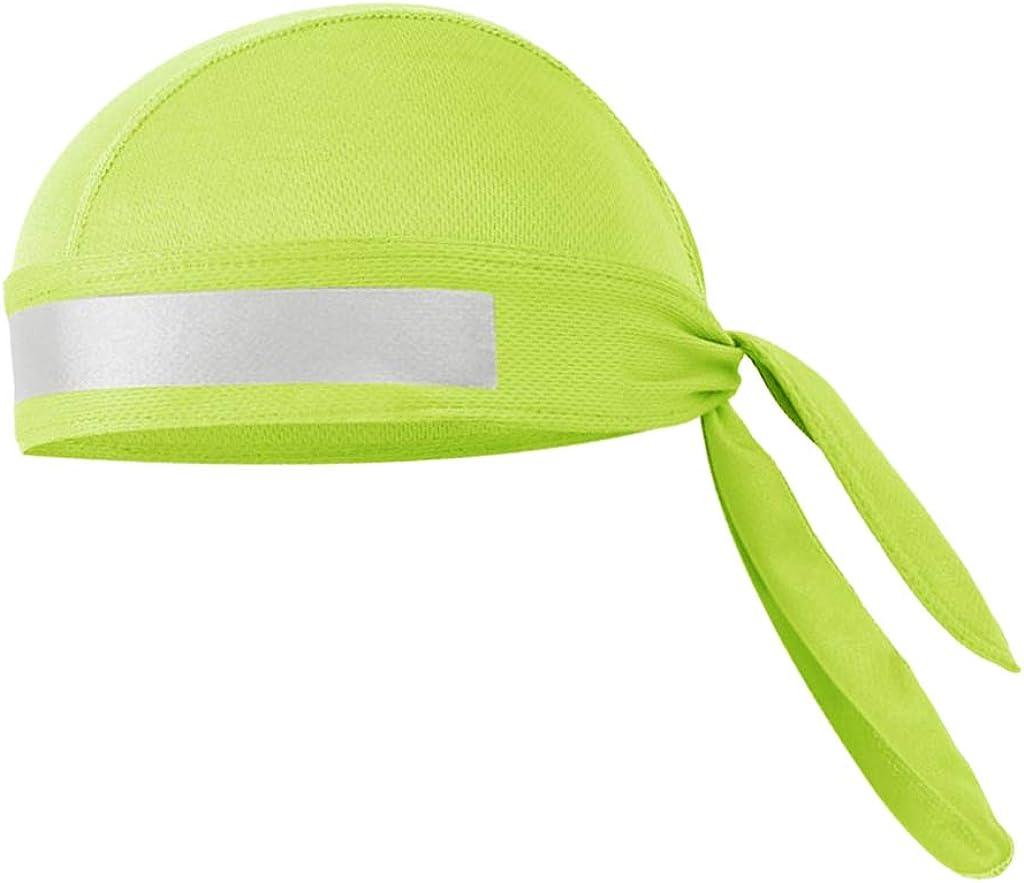 SM SunniMix Winddichte Radm/ütze Fahrradm/ütze Unterziehm/ütze Sch/ädelkappe Sport Kopfbedeckung Kopftuch mit Reflektorband