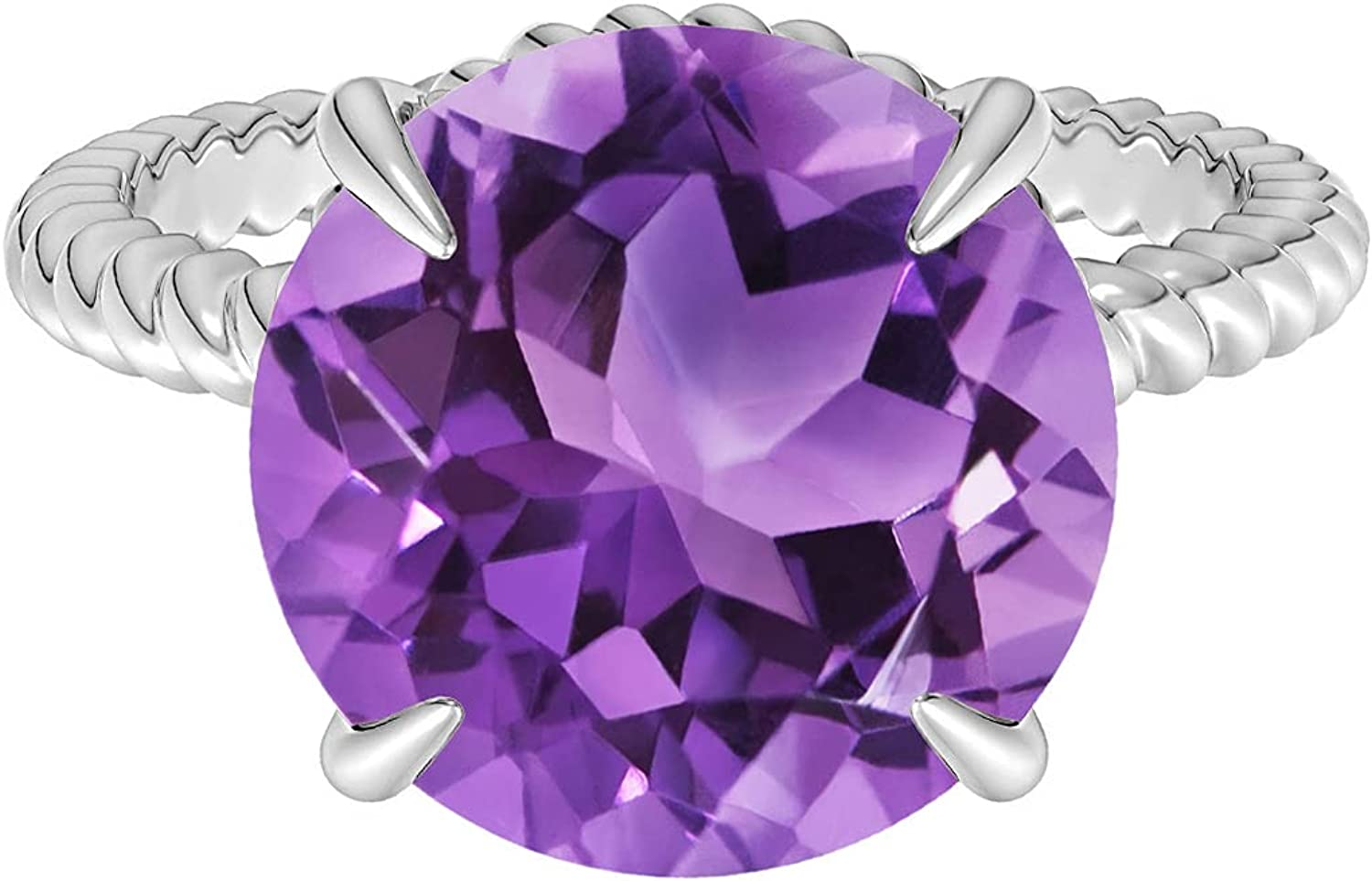 Shine Jewel Max 67% OFF 1.25 CTW Round Gemstone Cocktail Amethyst Outlet sale feature 925 Silver