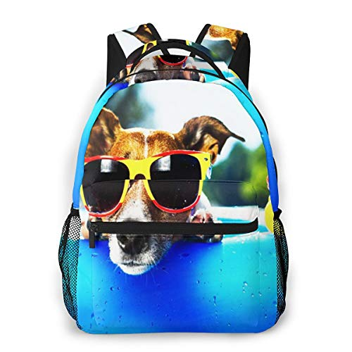 Laptop Rucksack Schulrucksack Luftmatratze für Hunde, 14 Zoll Reise Daypack Wasserdicht für Arbeit Business Schule Männer Frauen