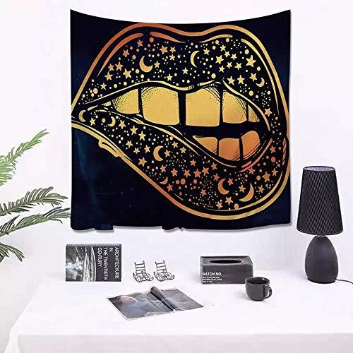 Tapiz elefante dorado sol luna magia tarot tapiz montado en la pared decoración de la habitación alfombra de yoga tapices de tela de pared 150x150cm